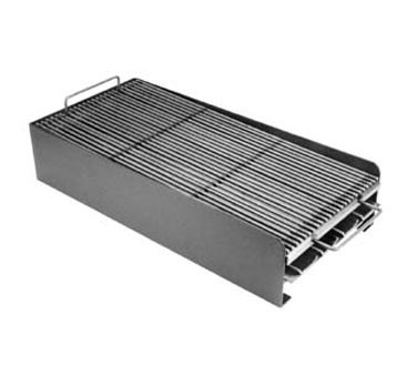 "133-1208 Franklin Machine - Add-On Broiler, covers 4 burners, 23-1/2"" x 24"" x 5"" H, grid con"