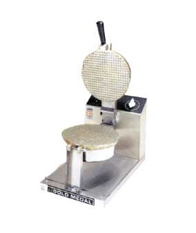 "5020 Gold Medal - Giant Waffle Cone Baker, 8"" danish grid, push button controls"