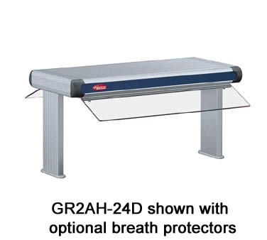 "GR2A-84D3 Hatco - Glo-Ray Designer Dual Foodwarmer, 88""W, 3"" spacing, infrared, s"