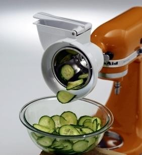 RVSA KitchenAid - Optional rotor slicer with shredder accessory for stand mixers.