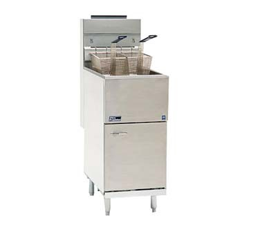 35C+SNG Pitco Frialator - Economy Fryer, Natural Gas, 35 Lb., Stainless Steel Tank, Door & Front
