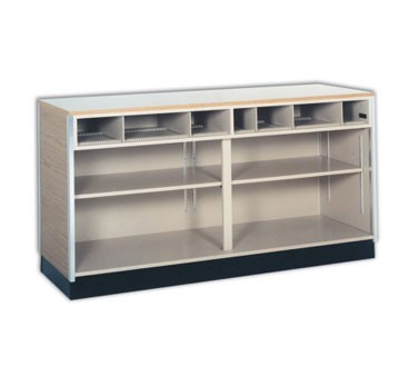 "98468 Spartan Showcase - Cash & Wrap Counters, 96""W, white HPL counter top, front & ends,"