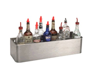 "DT-4 Supreme Metal - Bottle Rack, 46"", double tier keyhole, stainless steel"