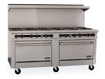 "TMDS72-24G-8-0-1C Therma-Tek Range  - Range, 72"" Restaurant, Gas, 24"" griddle w/3/4"" thick steel plate"