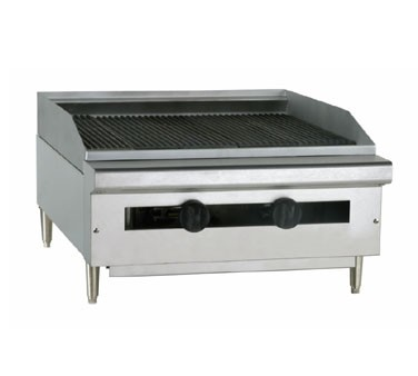 "TC24-24RB Therma-Tek Range  - Radiant Broiler, Gas, countertop, 24"" wide, (2) ""U"" burner, cast"