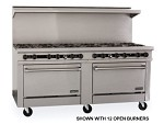 "TMDS72-60G-2-2C Therma-Tek Range  - Range, 72"" Restaurant, Gas, 60"" griddle w/3/4"" thick steel plate"
