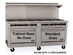 "TMDS72-72G-0-1 Therma-Tek Range  - Range, 72"" Restaurant, Gas, 72"" griddle w/3/4"" thick steel plate"