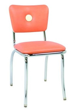 "921 BB Vitro Seating - Classic chair, button back, chrome finish. 1"" pulled seat. 1"" ro"