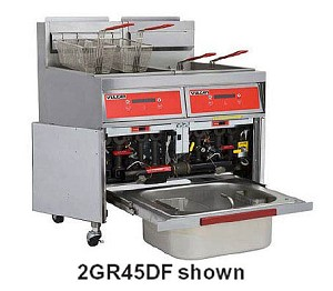 3GR65MF Vulcan Hart - Floor Fryer, Gas 65 - 70 Lb.