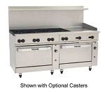 72SC-8B24GT Vulcan - Endurance 8 Burner Restaurant Range w/Griddle & Standard/Convection Ovens, 72 in.