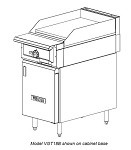VGT18B Vulcan - V Series Heavy Duty 30,000 BTU Griddle Top Range w/Thermostatic Controls, 18 in.