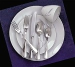 "AV-SF/B Admiral Craft - Avalon Salad Fork, 6-1/4"", extra heavy weight 18/8 stainless ste"