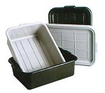 DB7-1520BK Admiral Craft - Dish/Tote Box, Black, heavy duty FDA approved polyethylene, inte