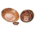 "TSB-10 Admiral Craft - Salad Bowl, woven wood, 10"" diameter, keyaki wood"