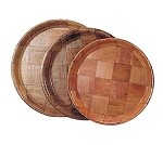 "WRT-13 Admiral Craft - Serving Tray, round, 13"" diameter, keyaki wood"