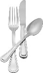 "AV-BLS/B Admiral Craft - Avalon Bouillon Spoon, 5-7/8"", extra heavy weight 18/8 stainless"