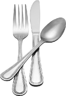 PL-DF/B Admiral Craft - Plaza Heavy Weight Dinner Fork, Mirror Finish (Pack of 2 Dozen)