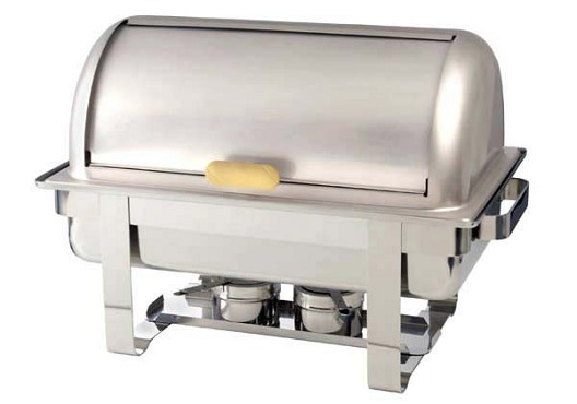 ROL-1 Admiral Craft - Grand Prix roll top full size 8 qt. chafer,  18/8 stainless stee