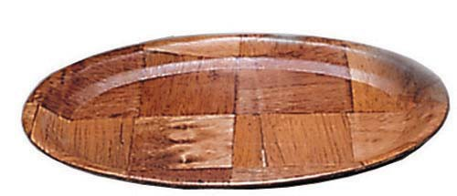 "WPL-10 Admiral Craft - Platter, oval, 10-5/8"" x 8-1/4"", keyaki wood"