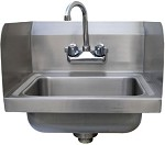 7-PS-EC-SP-X Advance Tabco - Lite Series Hand Sink w/ 7in. Side Splashes, Wall Model
