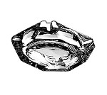 "143U Anchor Hocking - Glass Ashtray, 3-5/8"" Square (3 Dozen)"
