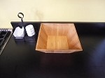 "BAM124 American Metalcraft - Square Bamboo Bowl, 12"" x 4-1/2""H"
