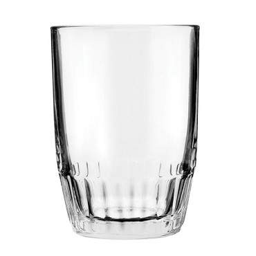 5054U Anchor Hocking - Tumbler Glass, 9 oz., Sure Guard Guarantee, Barrel (Sold per 3 d