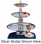 "MAN24-1612-G Apex Fountains - Tiered Food Display, Manhattan, 3-tier, 27""H. Great for weddings"
