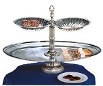 "NEP26OV-2S-G Apex Fountains - Tiered Food Display, Neptune, 2-tier, 18""H. With an elegant ocea"