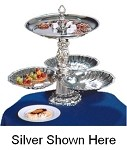 "NEP3S-10-G Apex Fountains - Tiered Food Display, Neptune, 2-tier, 19""H. It has an elegant oc"