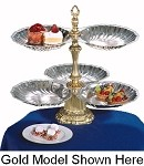 "NEP3S-2S-S Apex Fountains - Tiered Food Display, Neptune, 2-tier, 19""H. Ideal for catered ev"