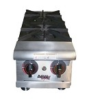 "HHPS-848 APW Wyott - Hotplate, Cookline, Heavy Duty, gas, countertop, 28-1/2"" x 48""."