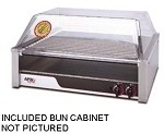 "HR-50SBD APW Wyott - Hot Dog Grill with Bun Drawer, HotRod, Roller-Type, 34-3/4""W x 1"