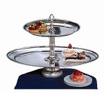 "CLA26OV-16-S Apex Fountains - Food Display, Classic Tiered, 2-tier, 18""H. Serving cakes or oth"