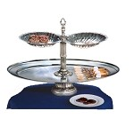 "NEP26OV-2S-S Apex Fountains - Tiered Food Display, Neptune, 2-tier, 18""H. Bring an oceanic loo"