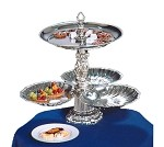 "NEP3S-10-S Apex Fountains - Tiered Food Display, Neptune, 2-tier, 19""H. Great for catered ev"