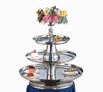 "VIP30-2418-S Apex Fountains - Tiered Food Display, V.I.P. III, 3-tier, 30""H. Great for caterin"