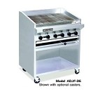 "ADJF-72 American Range - Charbroiler, Gas, Floor Model, 72"" wide, radiant type"