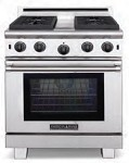ARROB448GDGRL American Range - 4 Open Gas Burners with 11in Griddle, 11in Grill Range LP