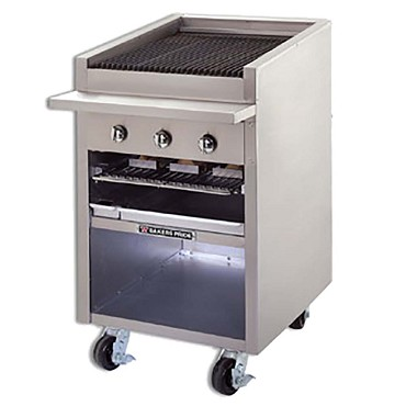 "F-24R Bakers Pride - Charbroiler, gas, 24""W floor model, 21""W x 24""D broiler area, s/"