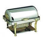 18040 Bon Chef - Elite Chafer, 2 gallon, rectangular, stainless steel w/Lion legs