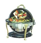 17000 Bon Chef - Elite Chafer, 2 gallon, round, stainless steel with brass Renais