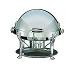 18000S Bon Chef - Elite Chafer, 2 gallon, round, silver plated w/Lion legs, handle
