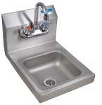 BKHS-W-SS-P-G BK Resources - Wall Mount Space Saver Hand Sink, 9 x 9 in.