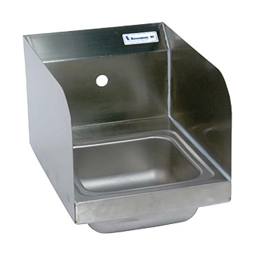 BKHS-W-SS-1-SS BK Resources - Space Saver Hand Sink w/Side Splashes, 9 x 9 in.