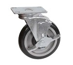 "5SBR-1PT-PLY BK Resources - 5"" polyurethane plate casters. PRICED PER EACH"