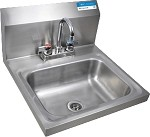 BKHS-D-1410-P-G BK Resources - Wall mount Hand Sink with Faucet, 14 x 10 In.