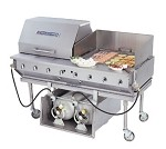 "CBBQ-60S-CP Bakers Pride - Outdoor Charbroiler, gas, 60""W x 24""D broiling area, (2) nickel-"