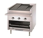 "C-24R Bakers Pride - Charbroiler, gas, counter model, 24""W standard profile, 21""W x 2"