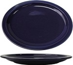 CAN-12-CB International Tableware - Cancun 9-3/4 in. Platter, Cobalt Blue (Sold Per 2 Dozen)